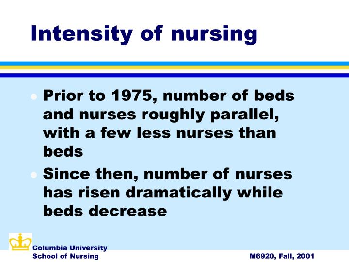 Intensity of nursing