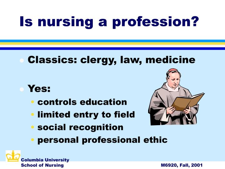 Is nursing a profession?