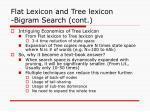 flat lexicon and tree lexicon bigram search cont1