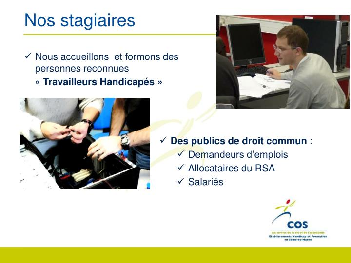 Nos stagiaires