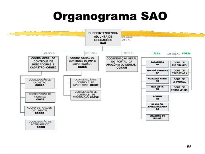 Organograma SAO