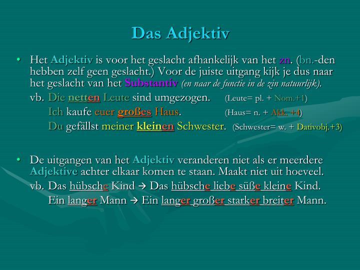 Das adjektiv1