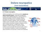 dolore neuropatico non nocicettivo