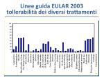 linee guida eular 2003 tollerabilit dei diversi trattamenti