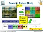 export to tertiary media