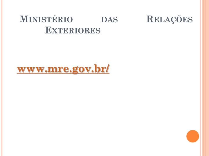 Ministério das Relações Exteriores