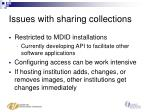 issues with sharing collections