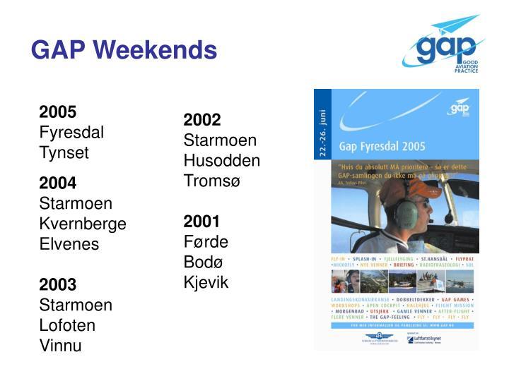 GAP Weekends