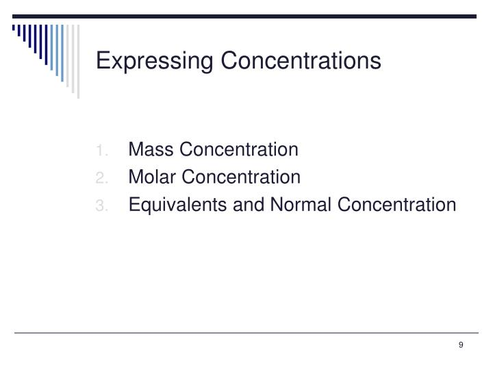 Expressing Concentrations