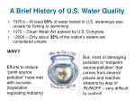 a brief history of u s water quality