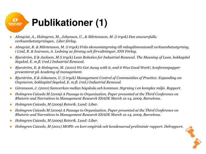 Publikationer (1)