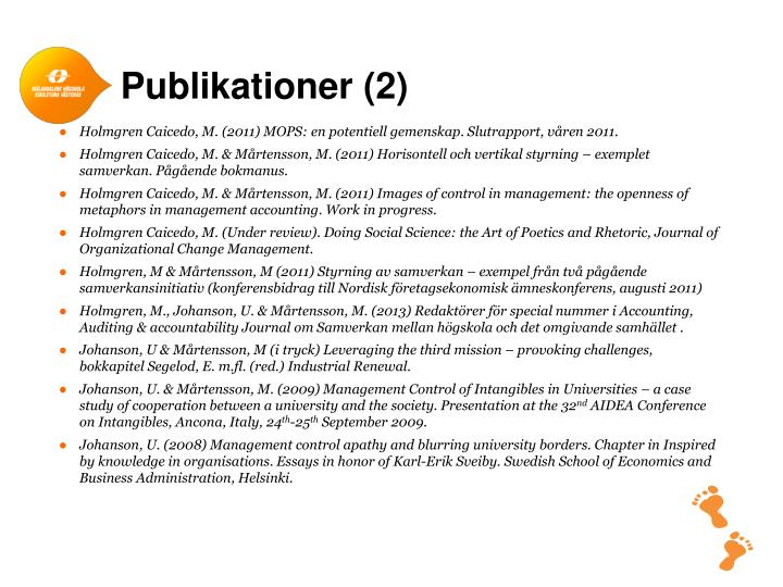 Publikationer (2)