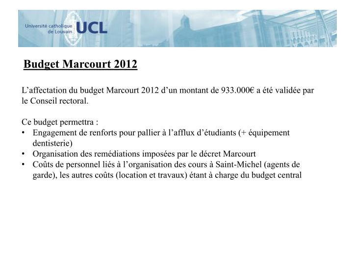 Budget Marcourt 2012