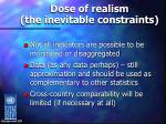 dose of realism the inevitable constraints