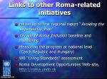 links to other roma related initiatives