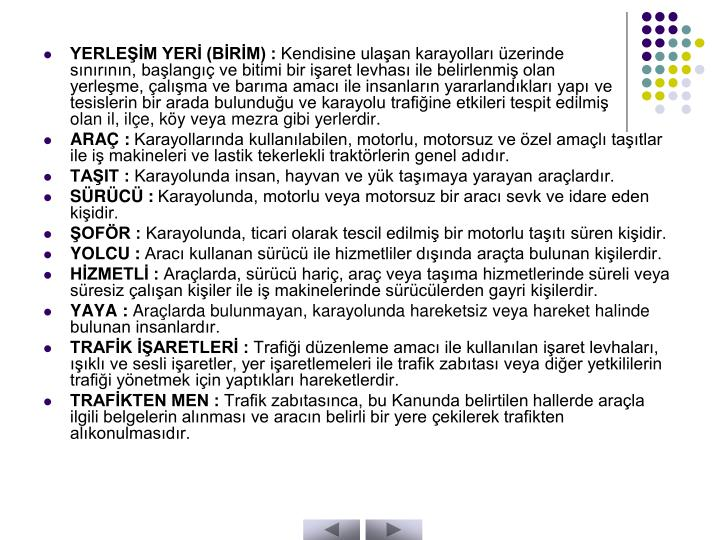 YERLEŞİM YERİ (BİRİM) :