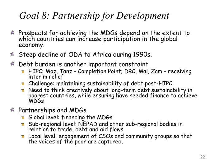 Goal 8: Partnership for Development