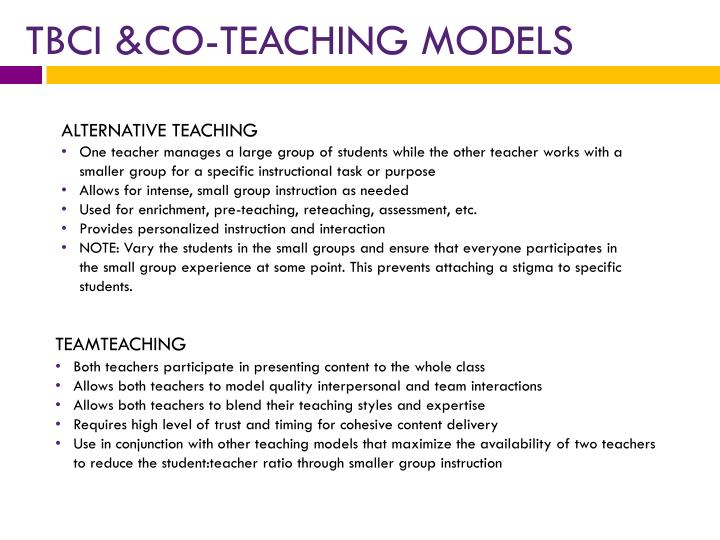 TBCI &CO-TEACHING MODELS