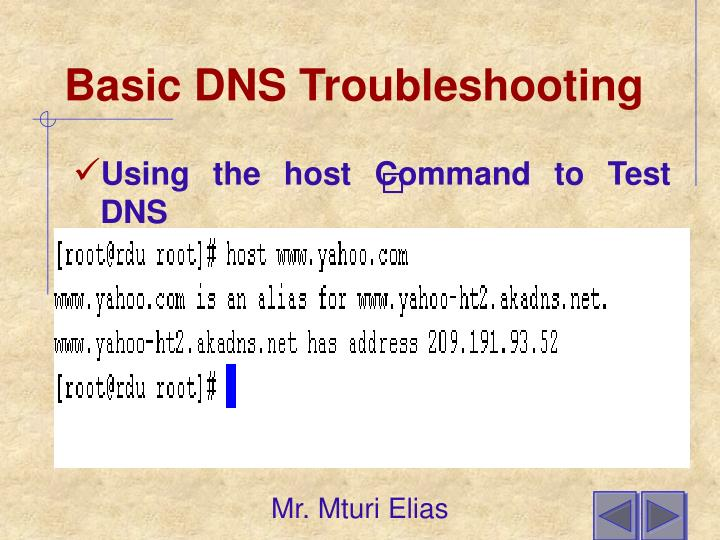 Basic DNS Troubleshooting