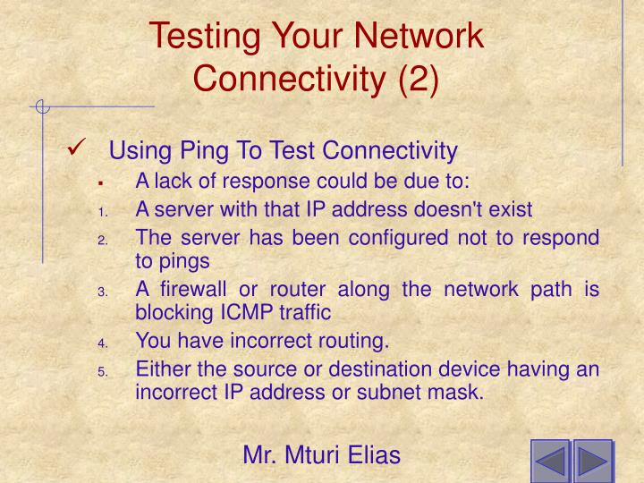 Testing Your Network Connectivity (2)