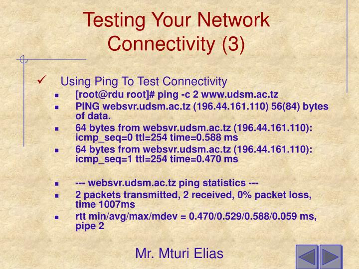 Testing Your Network Connectivity (3)