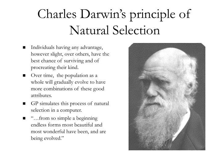Charles Darwin's principle of Natural Selection