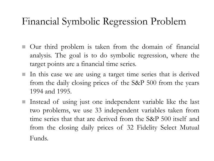 Financial Symbolic Regression Problem