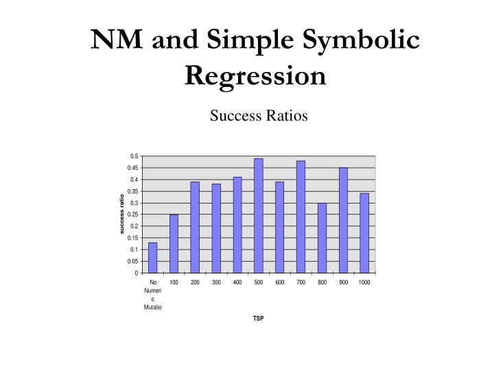 NM and Simple Symbolic Regression