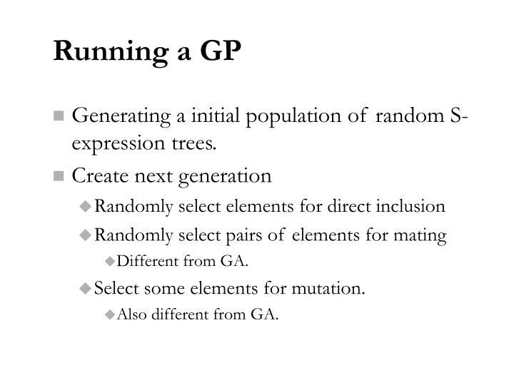 Running a GP