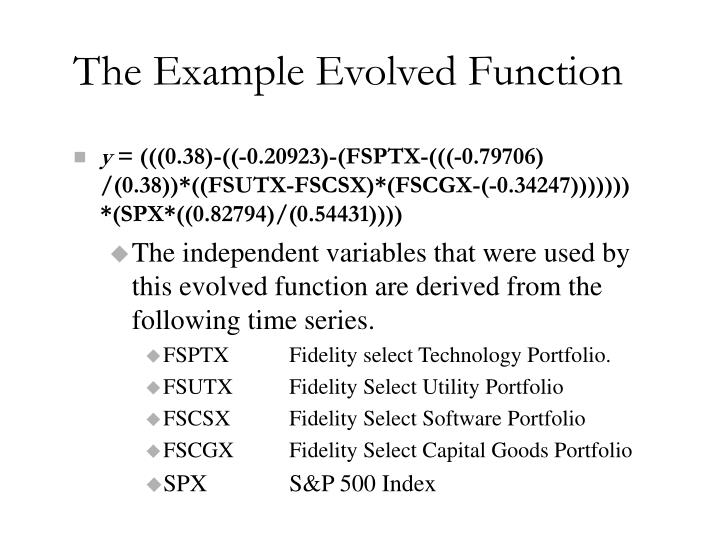 The Example Evolved Function
