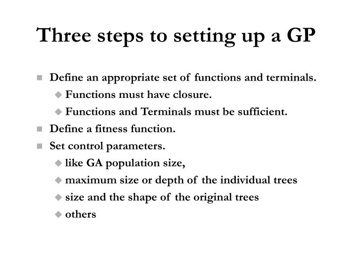 Three steps to setting up a GP