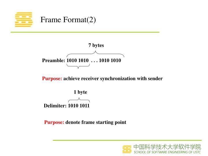 Frame Format(2)