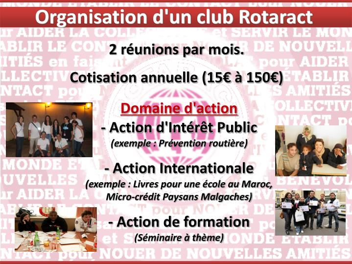 Organisation d'un club Rotaract