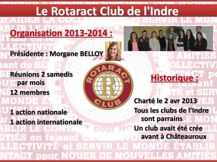 Le Rotaract Club de l'Indre