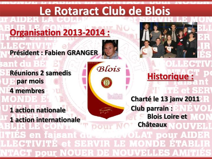 Le Rotaract Club de Blois