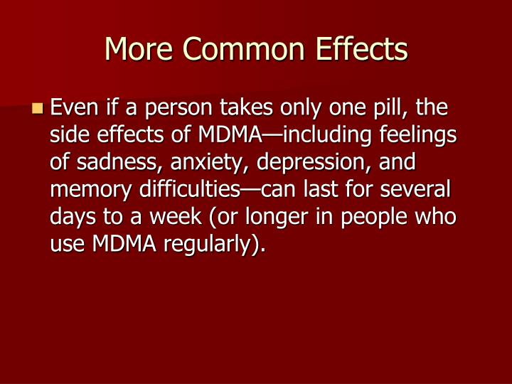More Common Effects