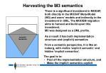 harvesting the m3 semantics