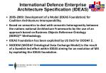 international defence enterprise architecture specification ideas