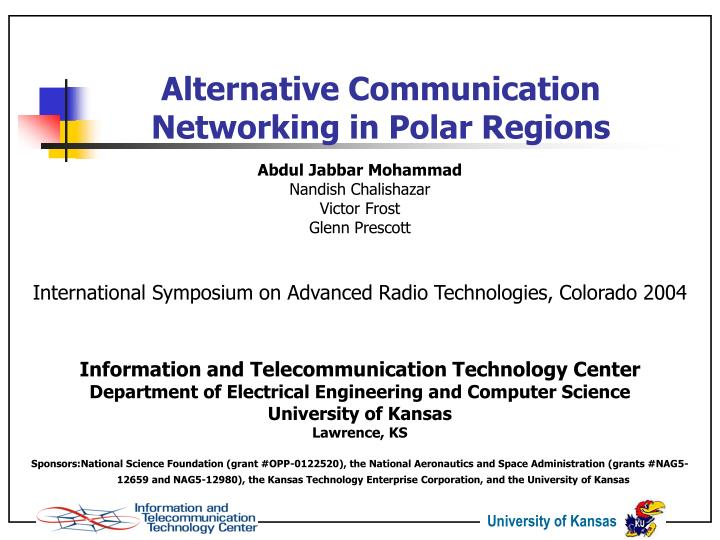 Alternative communication networking in polar regions