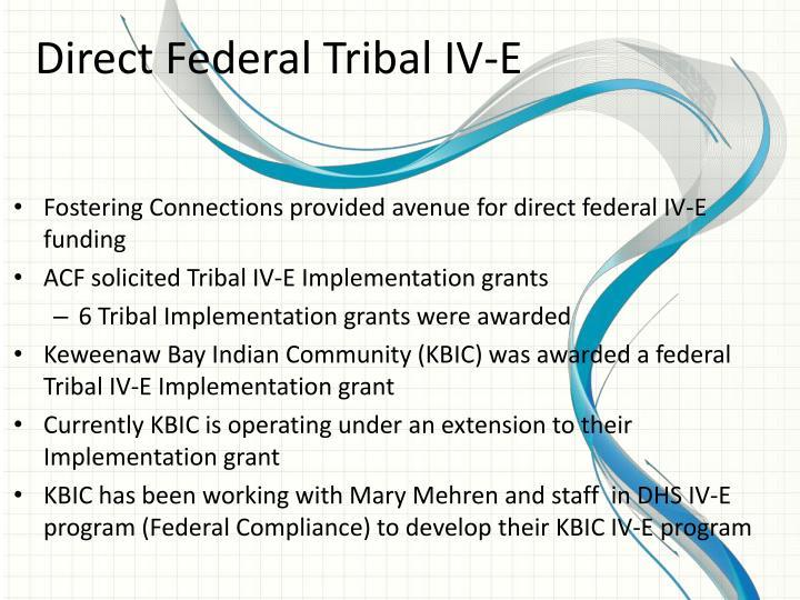 Direct Federal Tribal IV-E