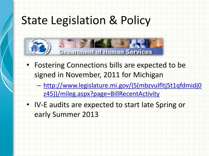 State Legislation & Policy