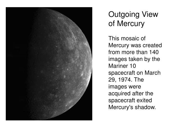 Outgoing View of Mercury