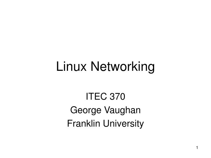 linux networking n.