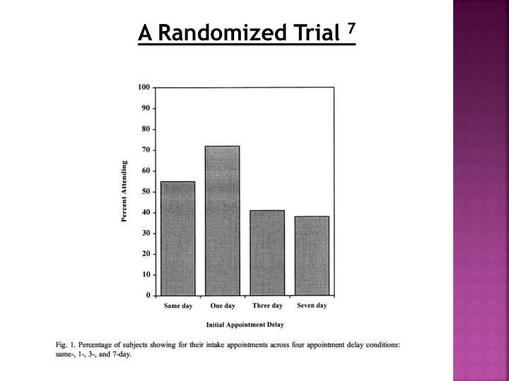 A Randomized Trial