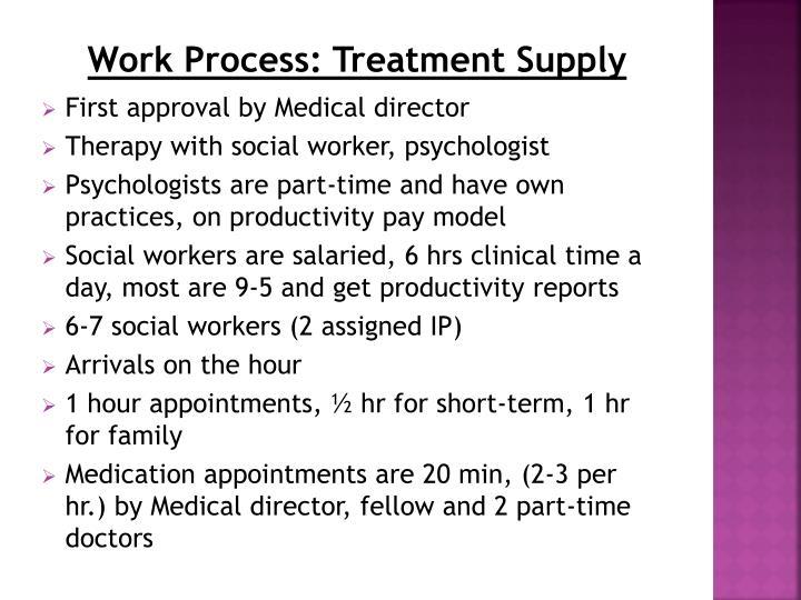 Work Process: Treatment Supply