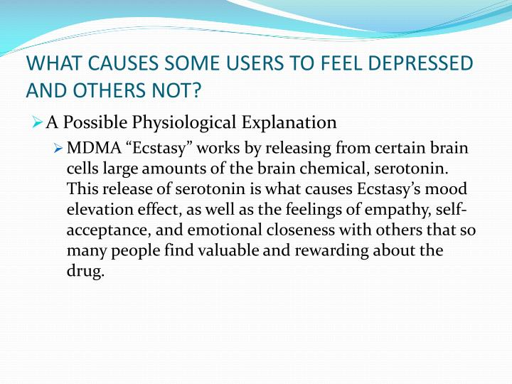 WHAT CAUSES SOME USERS TO FEEL DEPRESSED AND OTHERS NOT?