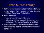 peer to peer frenzy