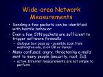 wide area network measurements