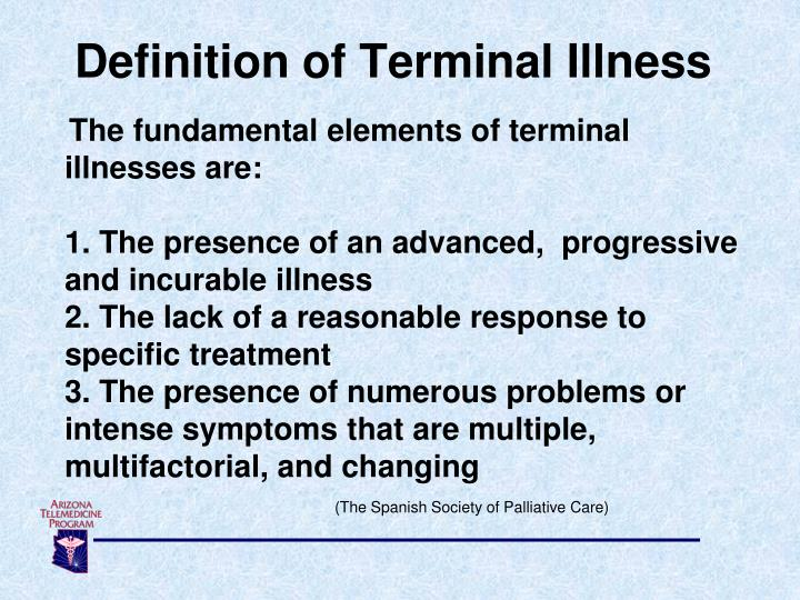 Definition of Terminal Illness