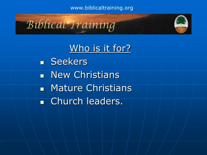 Who is it for seekers new christians mature christians church leaders